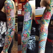 skull-roses-sleeve-lloyd-woodrome-monarch-tattoo