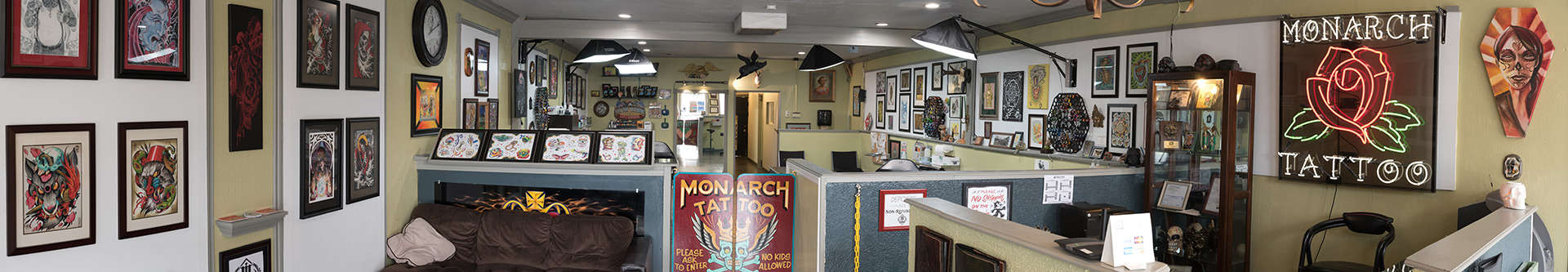Inside Monarch Tattoo, Kennewick, WA